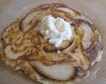 Pear & Goat Cheese Pancakes