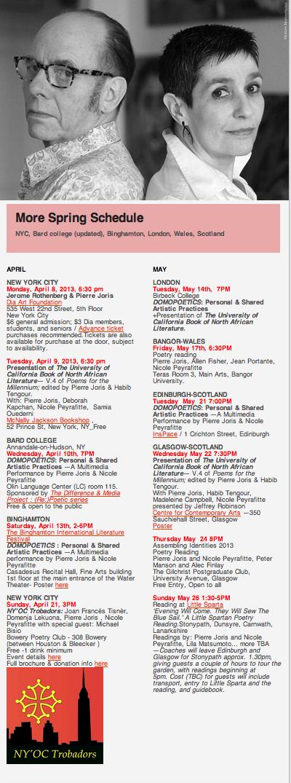 Spring Schedule pix